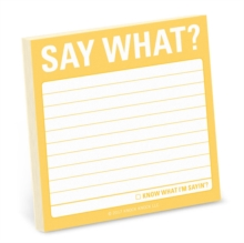 Say What? Sticky Note, Stickers Book