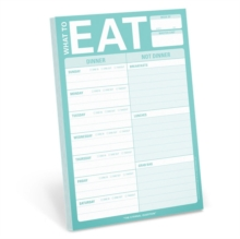 Knock Knock What to Eat Pad (Mint Green), Notebook / blank book Book