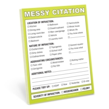 Knock Knock Messy Citation Nifty Notes, Bookmark Book