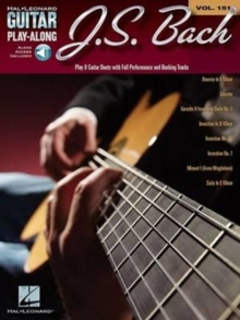 Guitar Play-Along Volume 151 : J.S. Bach (Book/Online Audio), Paperback Book
