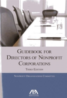 Guidebook for Directors of Nonprofit Corporations, Paperback Book