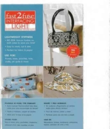 "fast2fuse Light Pack 15"" x 18"" : Double-Sided Fusible Stiff Interfacing, General merchandise Book"