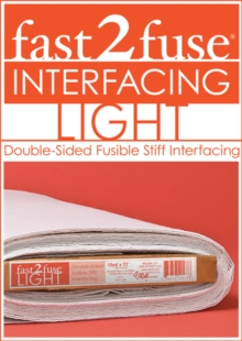 "fast2fuse Light Bolt 20"" x 10 yards : Double-Sided Fusible Stiff Interfacing, General merchandise Book"