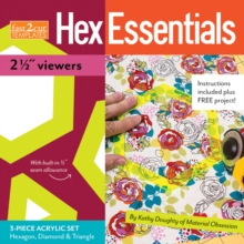 "fast2Cut (R) HexEssentials 21/2"" Peepers : 3-Piece Acrylic Hexagon, Diamond & Triangle Set * by Kathy Doughty of Material Obsession, General merchandise Book"