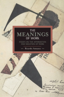 Meanings Of Work, The: Essays On The Affirmation And Negation Of Work : Historical Materialism, Volume 43, Paperback Book