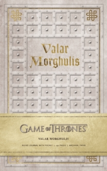 Game of Thrones: Valar Morghulis Hardcover Ruled Journal, Hardback Book