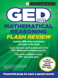 GED Test Mathematics Flash Review, Paperback Book