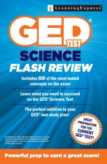 GED Test Science Flash Review, Paperback Book