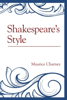 Shakespeare's Style, Paperback Book