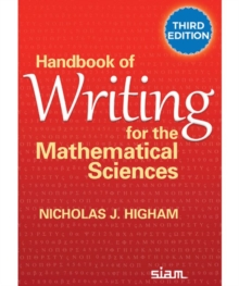 Handbook of Writing for the Mathematical Sciences, Paperback / softback Book