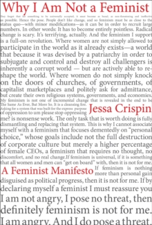 Why I Am Not A Feminist : A Feminist Manirfesto, Paperback Book
