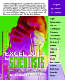 Excel 2013 for Scientists, Paperback Book
