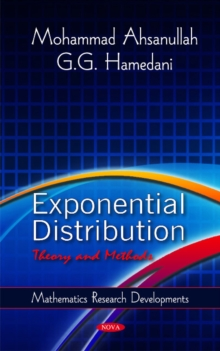 Exponential Distribution : Theory & Methods, Hardback Book