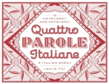 Quattro Parole Italiane : 12 Notecards and Envelopes, Postcard book or pack Book