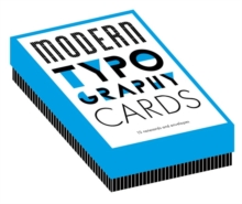Modern Typography Notecards : 12 Notecards and Envelopes, Cards Book