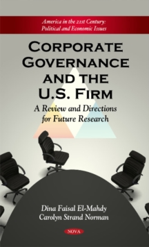 Corporate Governance & the Firm : A Review & Directions for Future Research, Hardback Book
