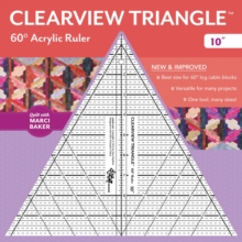 "Clearview Triangle (TM) 60 Degrees Acrylic Ruler - 10"", General merchandise Book"