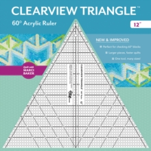 "Clearview Triangle (TM) 60 Degrees Acrylic Ruler - 12"", General merchandise Book"