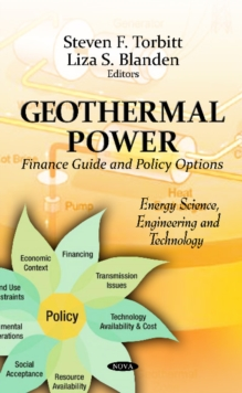 Geothermal Power : Finance Guide & Policy Options, Hardback Book
