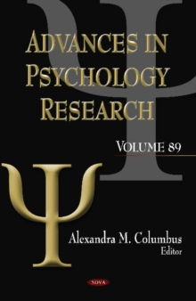 Advances In Psychology Research : Volume 89, Hardback Book