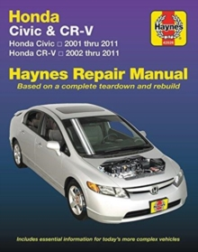 HM Honda Civic & CRV 2001 - 2011, Paperback / softback Book
