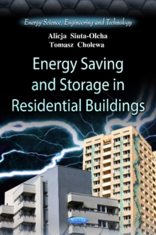 Energy Saving & Storage in Residential Buildings, Paperback Book