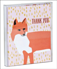 Foxy Thank You Notecard Set, Cards Book