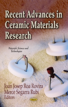 Recent Advances in Ceramic Materials Research, Hardback Book