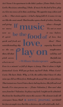 A Novel Journal: William Shakespeare (Compact), Hardback Book