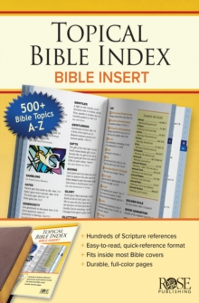 BOOK: Topical Bible Index Insert, Paperback Book