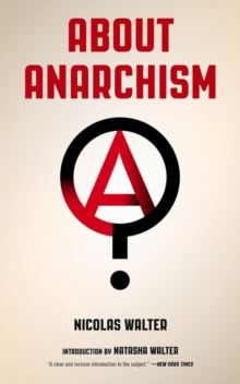 About Anarchism, Paperback / softback Book