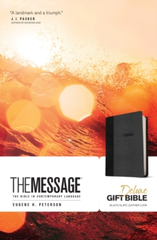 Message Deluxe Gift Bible (Leather-Look, Black/Slate), Leather / fine binding Book