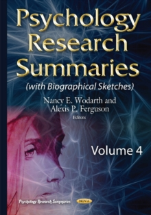 Psychology Research Summaries : Volume 4, Hardback Book