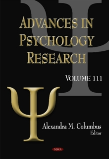 Advances in Psychology Research : Volume 111, Hardback Book