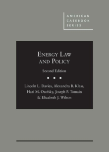 Energy Law and Policy, Hardback Book