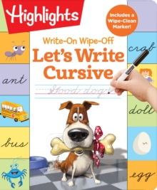 Write-On Wipe-Off: Let's Write Cursive, Spiral bound Book