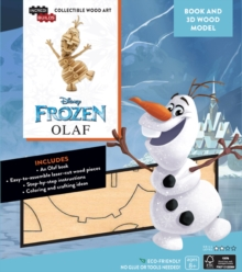 IncrediBuilds: Disney Frozen: Olaf 3D Wood Model and Book, Kit Book