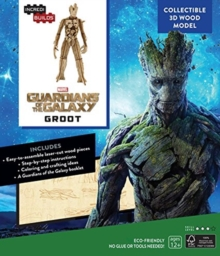 IncrediBuilds: Marvel: Groot: Guardians of the Galaxy 3D Wood Model, Kit Book