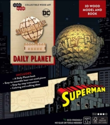 IncrediBuilds: DC Comics: Superman: Daily Planet 3D Wood Model and Book, Kit Book