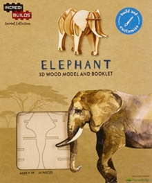 IncrediBuilds Animal Collection: Elephant, Kit Book