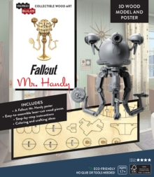IncrediBuilds: Fallout: Mr. Handy 3D Wood Model and Poster, Kit Book