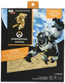 IncrediBuilds: Overwatch: Winston 3D Wood Model and Poster, Kit Book
