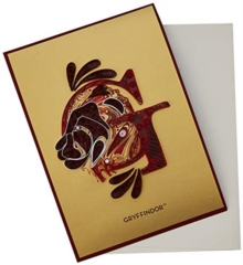 Harry Potter: Gryffindor Crest Quilled Card, Cards Book