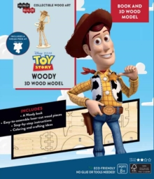 IncrediBuilds Toy Story: Woody Book and 3D Wood Model, Kit Book