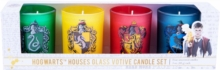 Harry Potter: Hogwarts Houses Glass Votive Candle Set : Set of 4, Other printed item Book