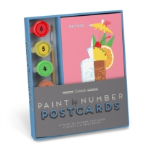 Knock Knock Cocktails Paint-by-Number Postcards Kit, Postcard book or pack Book