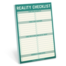 Knock Knock Reality Checklist Pad,  Book