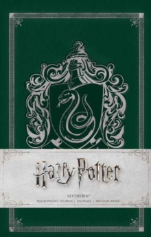 Harry Potter Slytherin Hardcover Ruled Journal, Hardback Book