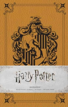 Harry Potter: Hufflepuff Ruled Pocket Journal, Hardback Book