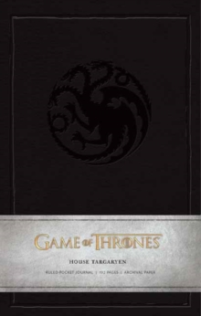 Game of Thrones: House Targaryen Ruled Pocket Journal, Hardback Book